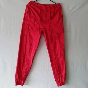Pants - Coofandy Women's Red Side pockets Pant